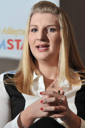 Rebecca Adlington announces her retirement from competitive swimming during a press conference held at the InterContinental WestminsterFeaturing: Rebecca Adlington Where: London, United Kingdom When: 05 Feb 2013 Credit: Daniel Deme/WENN.com