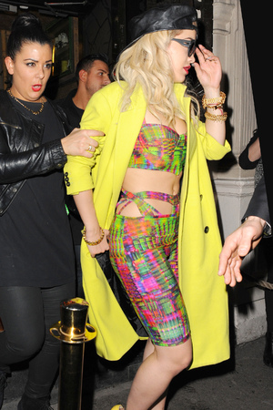 Celebrities leaving Rita Ora's wrap party at Mahiki Featuring: Rita Ora Where: London, United Kingdom When: 07 Feb 2013