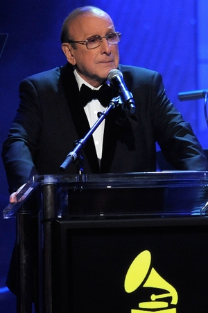 Clive Davis speaks at his Pre-Grammy Gala on Saturday