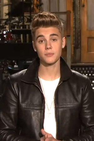 Justin Bieber in a promo for SNL, Saturday 9th February 2013