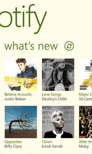 The Spotify app for Windows Phone 8