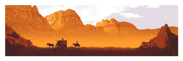 Django Unchained by artist Mark Englert.