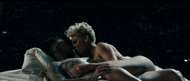 Pink new music video 'Just Give Me A Reason' featuring scenes with her husband Carey Hart