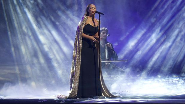 Leona Lewis performs at the Art On Ice show in Hartwall arena, Helsinki, Finland - 09 Feb 2013