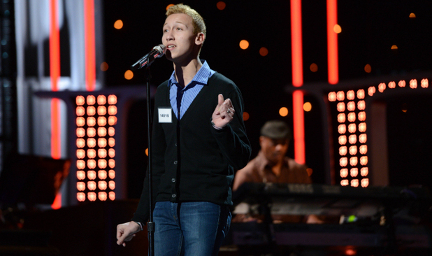 Devin Velez performs during the boys solo round of Hollywood week on 'American Idol'