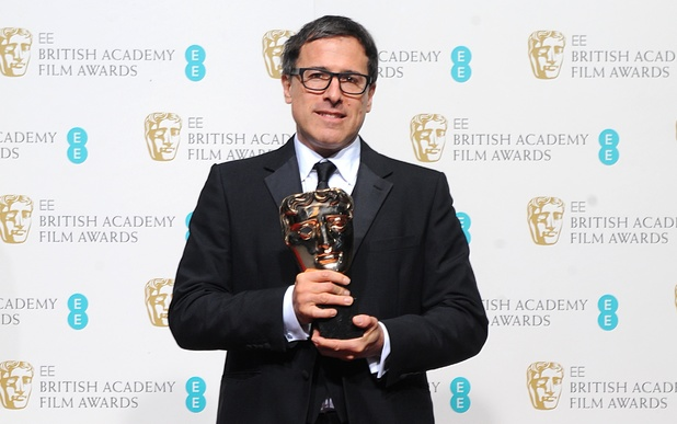BAFTA 2013: David O Russell with the award for Best Adapted Screenplay for 'Silver Linings Playbook'.