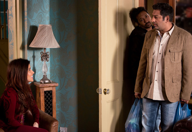 Masood is surprised to see Ayesha in his living room.