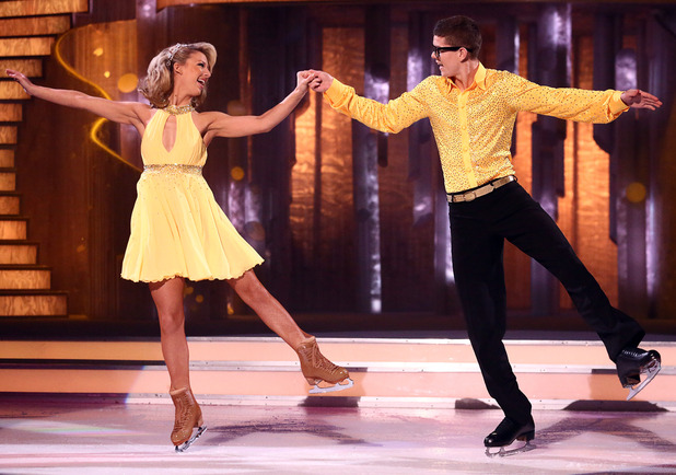 Dancing on Ice: Luke Campbell and Jenna Harrison.