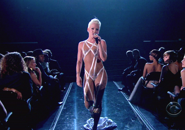 Pink performs at The 52nd Annual Grammy Awards on CBS USA - 31.01.10