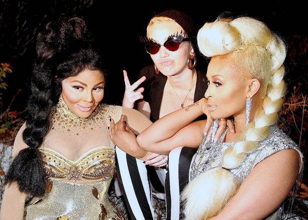 Miley Cyrus at Lil' Kim and Tiffany Foxx's 'Twisted' Music Video Shoot at a Private Residence in the Hollywood Hills Featuring: Lil Kim,Miley Cyrus,Tiffany Foxx Where: Los Angeles, California, United States