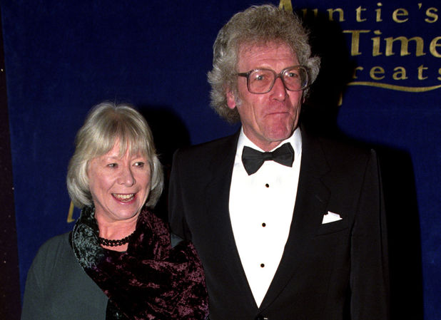 Peter Gilmore and Anne Stallybrass in November 1996 for 'Aunties All Time Greats' - a birthday party to celebrate 60 years of BBC TV