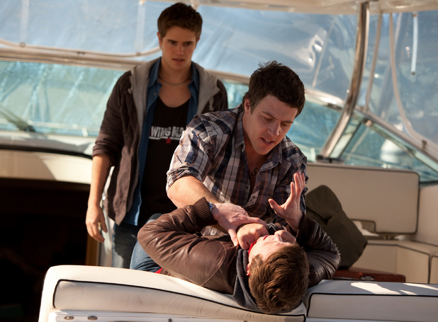 Brax and Kyle threaten Jamie.