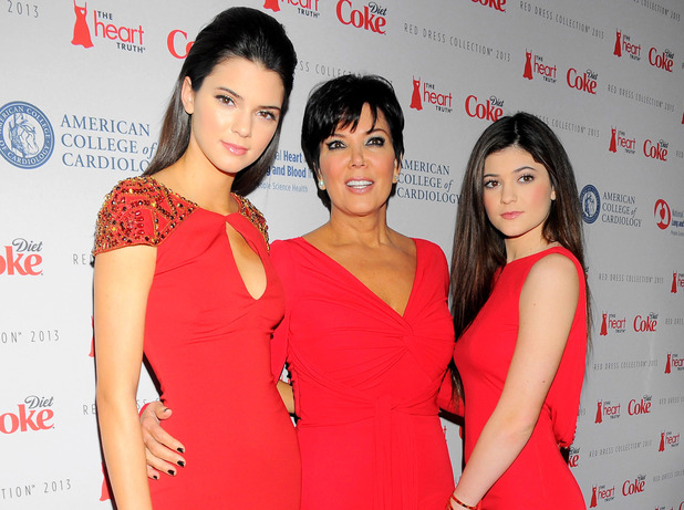 The Heart Truth Red Dress Collection 2013 Fashion Show, New York, Kendall Jenner, Kris Jenner and Kylie Jenner