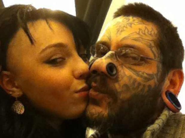 Lesya Toumaniantz gets tattoo of boyfriend Ruslan's name across her face