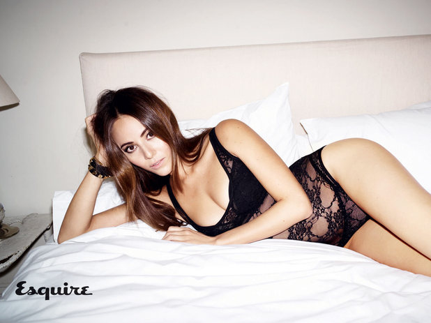 Jessica Michibata poses for a photo shoot in the March issue of Esquire magazine