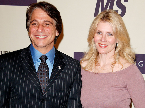 Tony Danza and wife Tracy at the &#39;Rock and Royalty to Erase MS&#39; event in April 2005&#39;