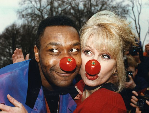 Lenny Henry and Joanna Lumley