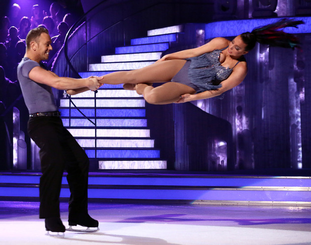 Dancing on Ice: Beth Tweddle and Daniel Whiston.