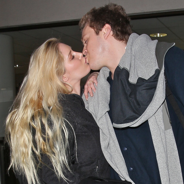 Heidi Montag and Spencer Pratt arrive at Los Angeles International airport LAX on a flight from LondonFeaturing: Heidi Montag,Spencer Pratt Where: Los Angeles, California, United States When: 06 Feb 2013 Credit: STS/WENN.com
