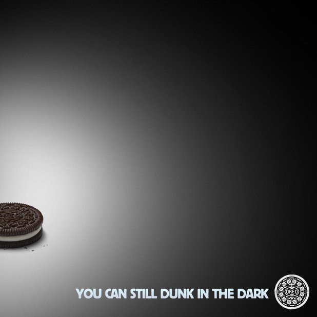 Oreo Super Bowl blackout poster