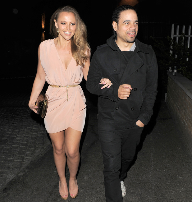 Kimberley Walsh and her boyfriend Justin Scott leaving Gilgamesh restaurant London, England - 31.03.12 Credit: (Mandatory): Will Alexander/WENN.com
