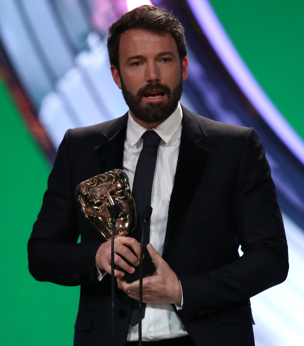 BAFTA Ceremony: Ben Affleck collects his award for Argo.