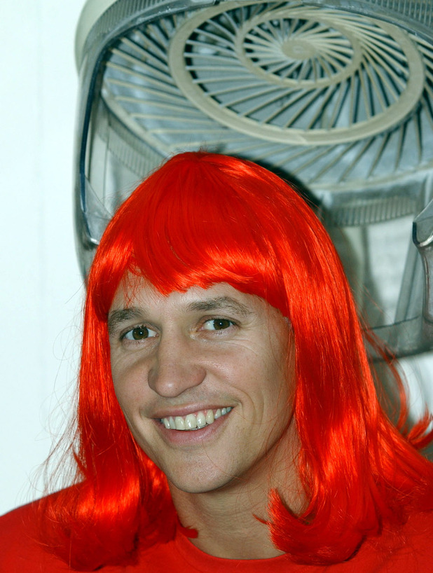 Gary Lineker during Red Nose Day 2003 The Big Hair Do launch