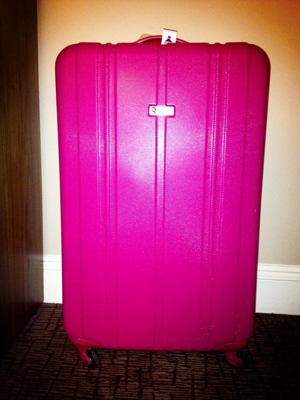 Rylan Clark Twitter picture of suitcase