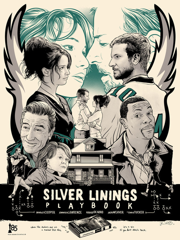 Oscar Best Picture Posters: Silver Linings Playbook by artist Joshua Budich.