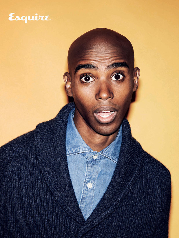 Mo Farah photo shoot for Esquire magazine, March issue