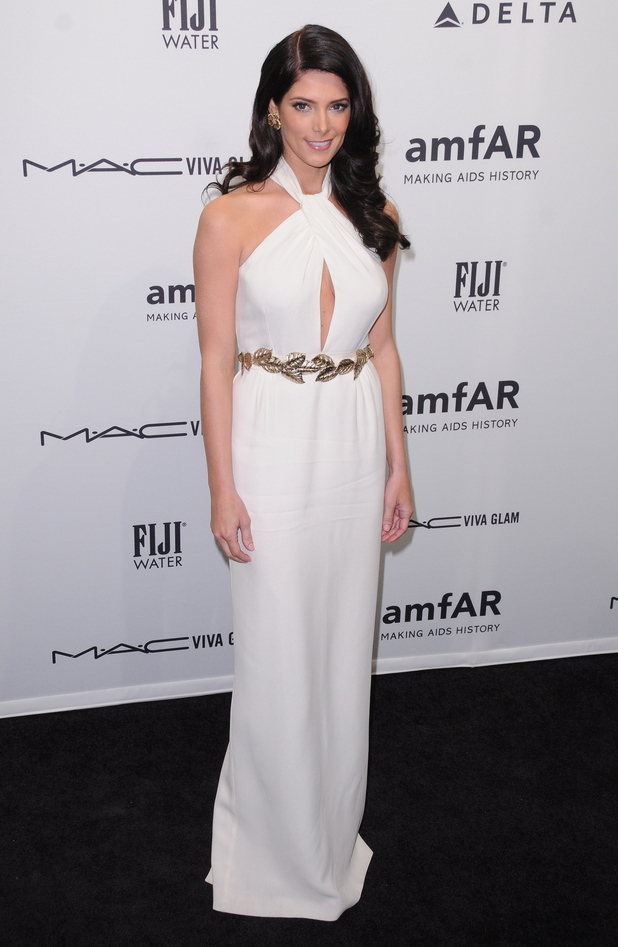 Lindsay Lohan at amfAR's New York gala