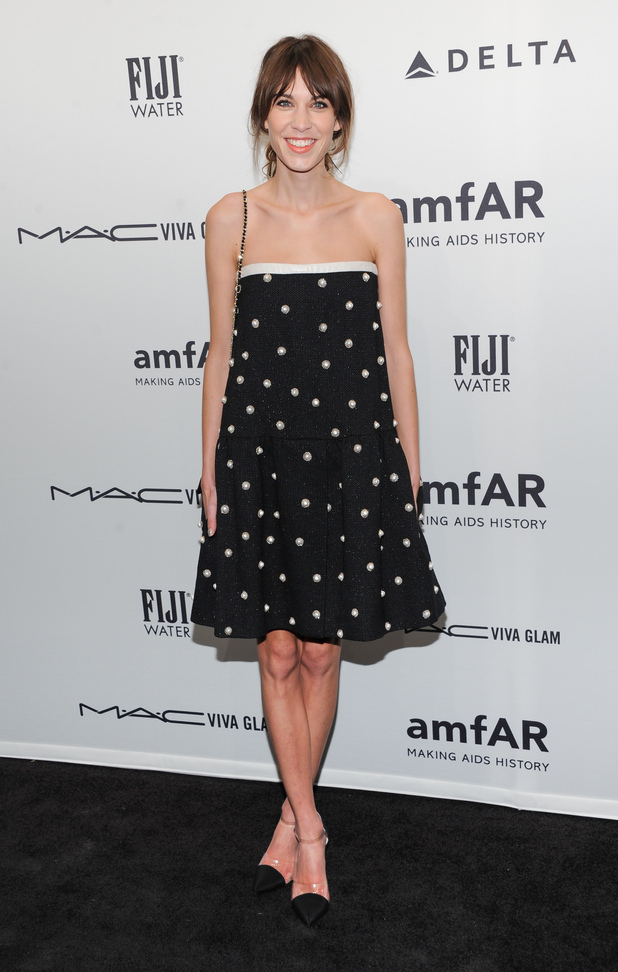 Alexa Chung, amfAR's New York gala at Cipriani Wall Street