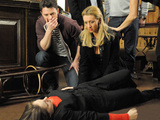8066: In her drunken-state, Kylie falls from a table in the Rovers
