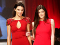 Kylie & Kendall Jenner hit the catwalk in red gowns for New York Fashion Week.