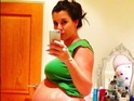Pregnant reality girl posts photo of her huge baby bump.