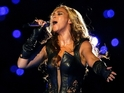 The singer wore the animal skins during her Super Bowl half-time performance.