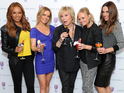 Victoria Beckham is absent again as the band reveal personalised Harvey Nichols drinks.
