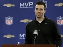 MVP Joe Flacco was overheard cursing excitedly when the Baltimore Ravens won.