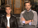 The 'Boyfriend' singer and Jason Sudeikis search for Bieber Fever cure.