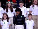 Jennifer Hudson opens up about singing with Sandy Hook chorus.