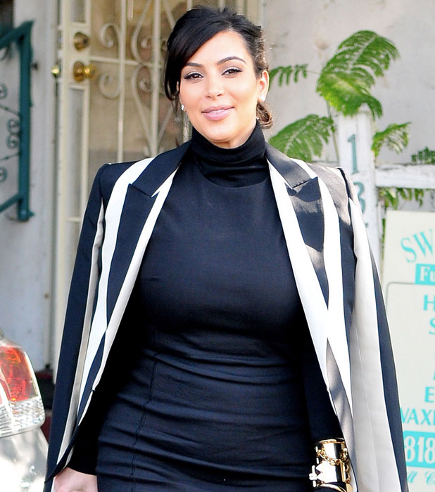 Kim Kardashian out and about in LA on 6 Feb