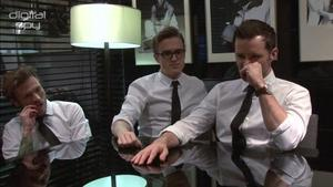 McFly on Tom's wedding video and fake tans with TOWIE's Mario