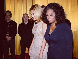 Beyoncé and Oprah at the Life Is But A Dream documentary screening