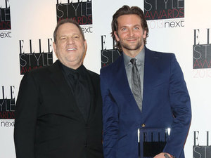 Bradley Cooper and Harvey Weinstein at Elle Style Awards