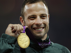 Oscar Pistorius, 400 meters T44 category final during the athletics competition at the 2012 Paralympics, in London.