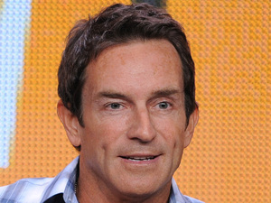 Jeff Probst at a TCA Press Tour panel for 'The Jeff Probst Show'