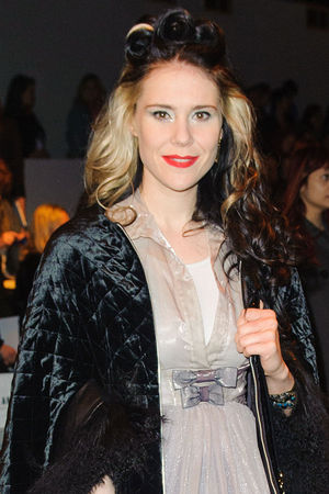 Kate Nash attends the Bora Aksu catwalk show at London Fashion Week.