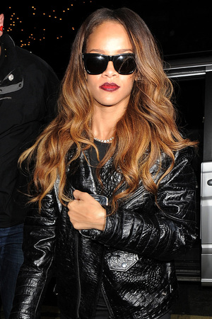 Rihanna arriving back at her London hotel.