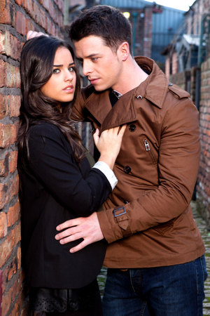 Katy Armstrong and Ryan Connor kiss