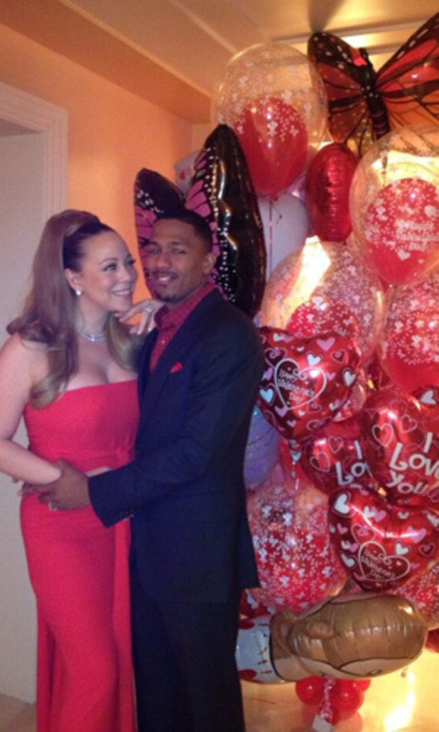Mariah Carey and Nick Canon on Valentines day